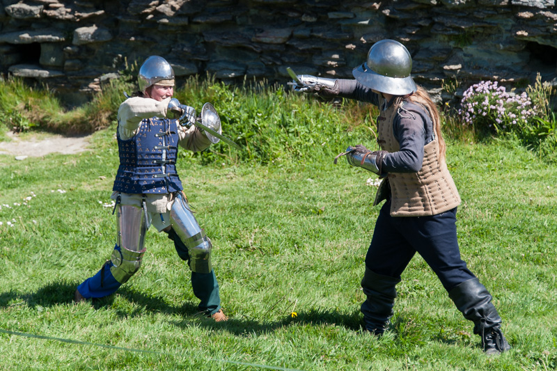 Fighting at Tintagel